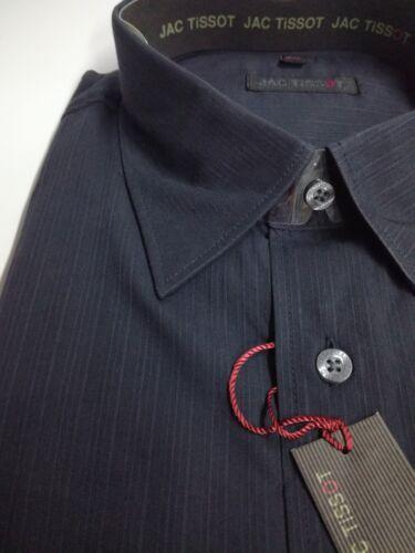 NUOVA linea uomo jac Tissot Camicia Nera 100/% COTONE colletto standard CLEARENCE RRP £ 29.95