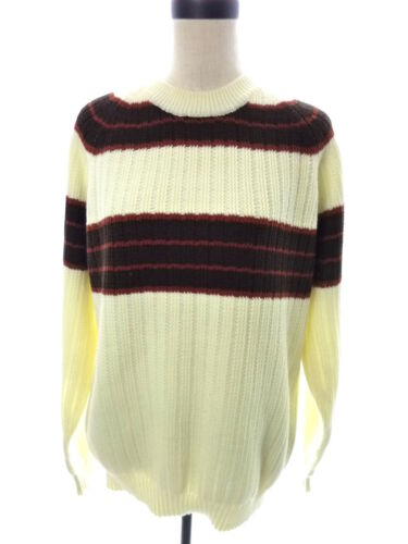Vintage Mens California Sacramento Weinstock's Ivory Brown 70's Sweater L Large