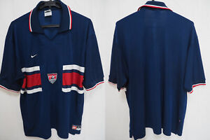 89c2f85206f Details about 1995-1996 USA The United States America USMNT Yanks Jersey  Shirt Away Nike L