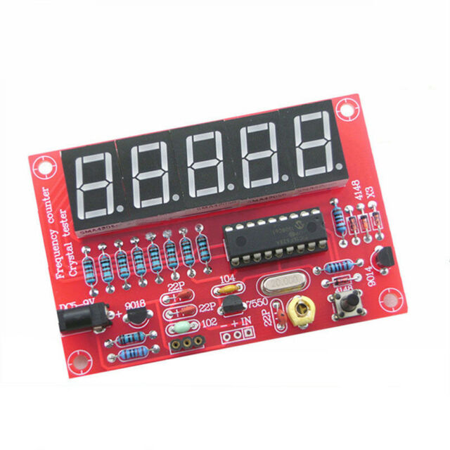 DIY Kits 1Hz-50MHz Crystal Oscillator Frequency Counter Meter Digital LED PIC AU