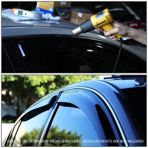SMOKED CAR WINDOW VISOR//WIND DEFLECTOR VENT RAIN SHADE FOR 12-16 HONDA CR-V RM