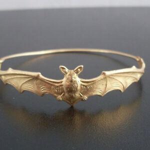 Vintage-Halloween-Bat-Gothic-Jewelry-Bracelet-Jewelry-Vampire-Bat-Bracelet