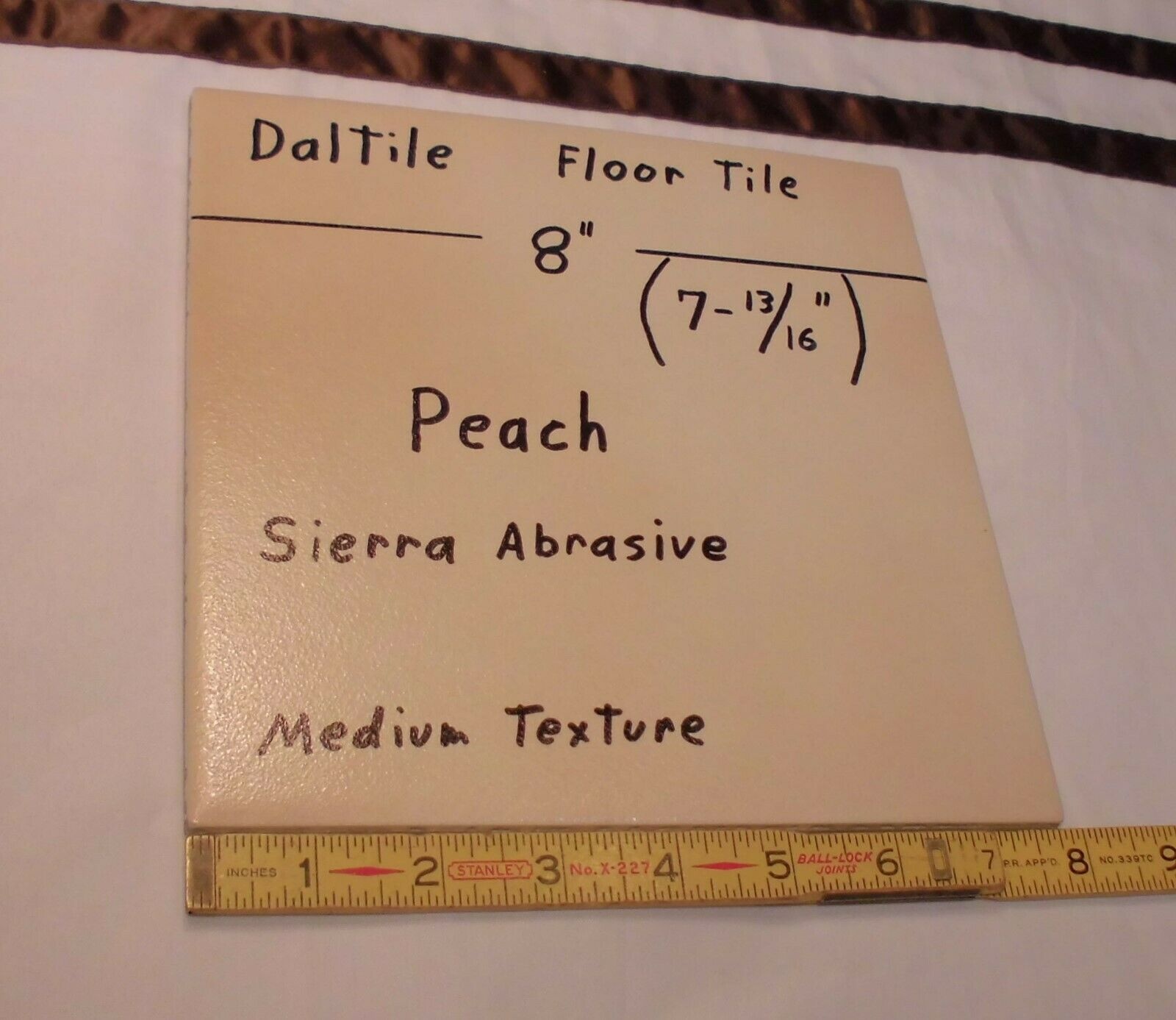 "Discontinued Daltile *Light Brown-Aspen* Ceramic Floor Tile  8/"" X 8/""  New Stock"