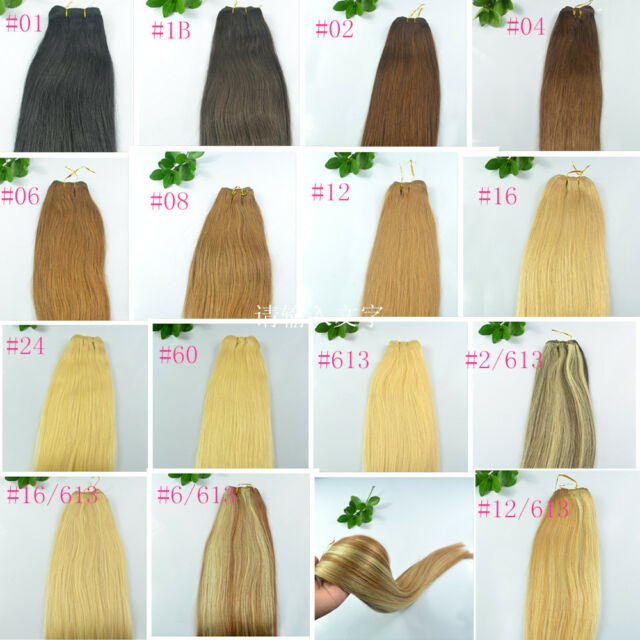 "Remy Straight 20"" 22""Long FULL HEAD 100% Human Hair Weft Weaving Hair Extensions"