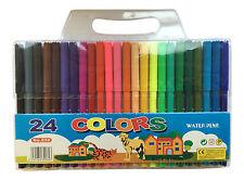 Paquete De 24 X Fieltro Punta De Fibra De Plumas Varios Colores Para Niños De Los Niños Para Colorear