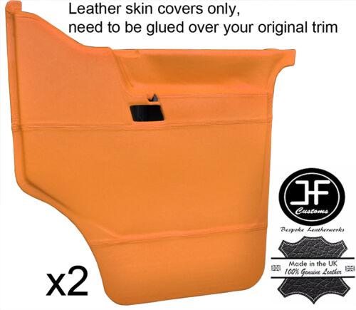 Orange cuir véritable 2X porte avant Carte Covers Fits VW T4 Transporteur Caravelle