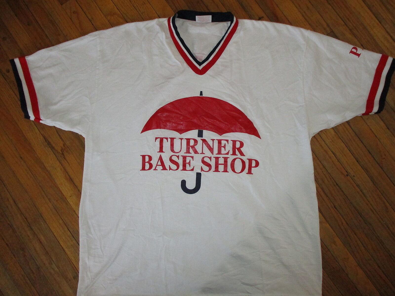 vtg 70s 80s TURNER BASE SHOP RINGER JERSEY T SHIR… - image 1