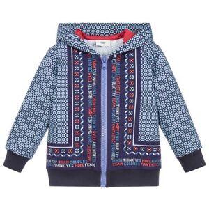 8ab41be708 Details about NWT NEW Fendi Boys Blue Bandana print hoodie sweat track  jacket cactus 6y $650+