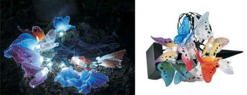 LED Solar Lichterkette mit Schmetterlingen Partylichterkette Lichterschlauch