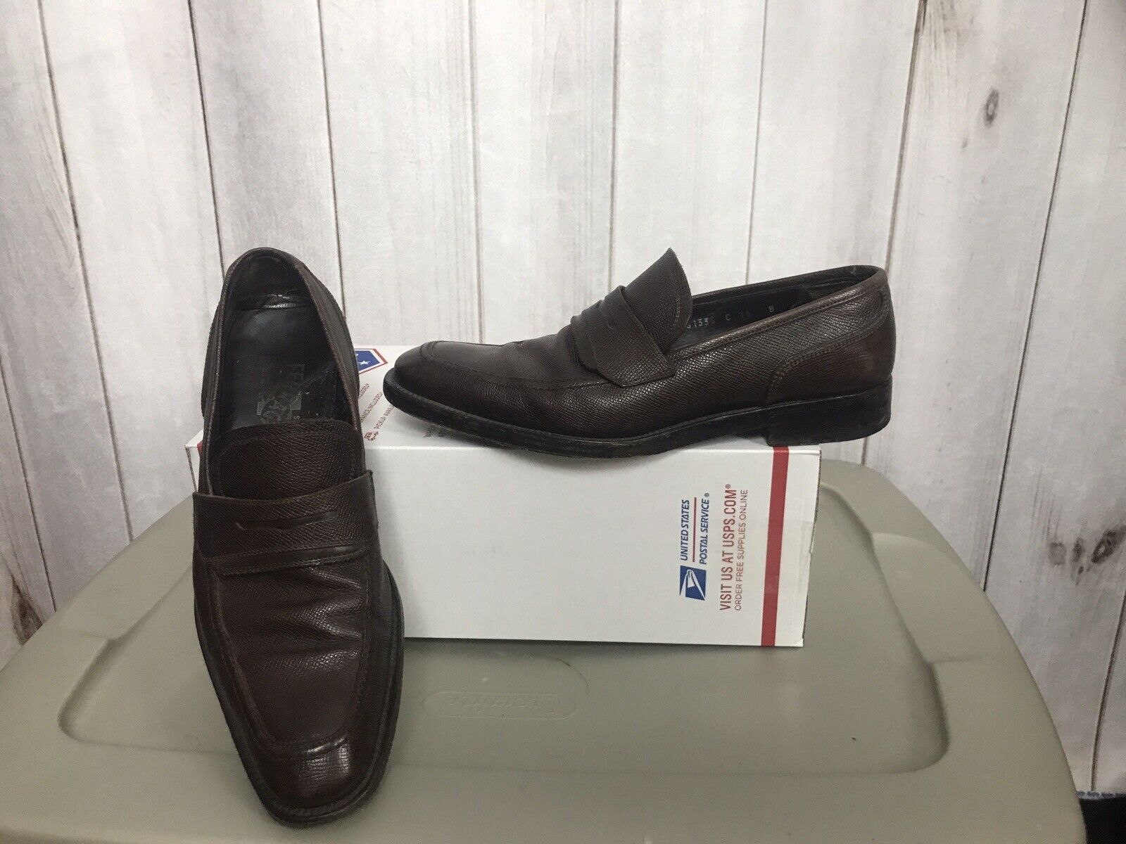 Salvatore Ferragamo Mens Brown Penny Loafers new shoes shoes  Size 8D UG61338