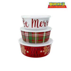 St Nicholas Square 3 Nesting Christmas Food Storage Containers