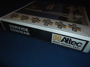 Details about ALTEC AH100 DIGGER DERRICK TRUCK SERVICE REPAIR SHOP WORKSHOP  MANUAL BOOK
