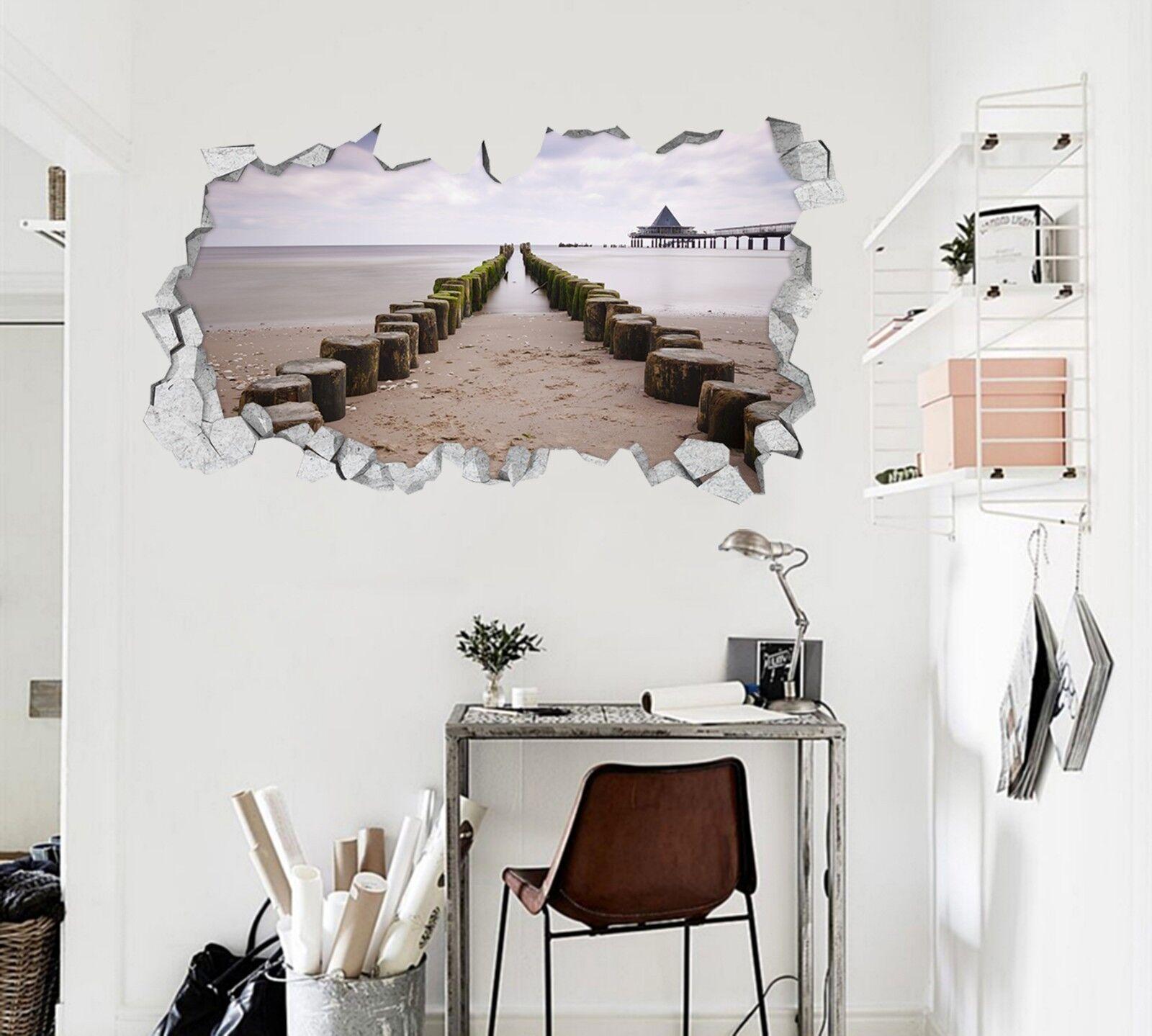 3D Holz  Straße 855 Mauer Murals Mauer Aufklebe Decal Durchbruch AJ WALLPAPER DE