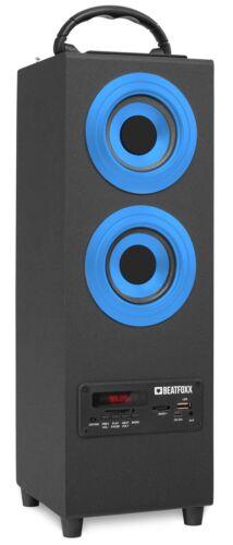 Móvil Bluetooth altavoces USB SD AUX mp3 reproductor radio Box subwoofer azul