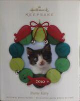 2010 Hallmark Keepsake Christmas Ornament Pretty Kitty Photo Holder Cat