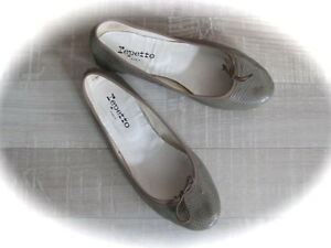 A-VOIR-SUPERBE-PAIRE-DE-BALLERINES-REPETTO-TAUPE-CUIR-STYLE-REPTILE