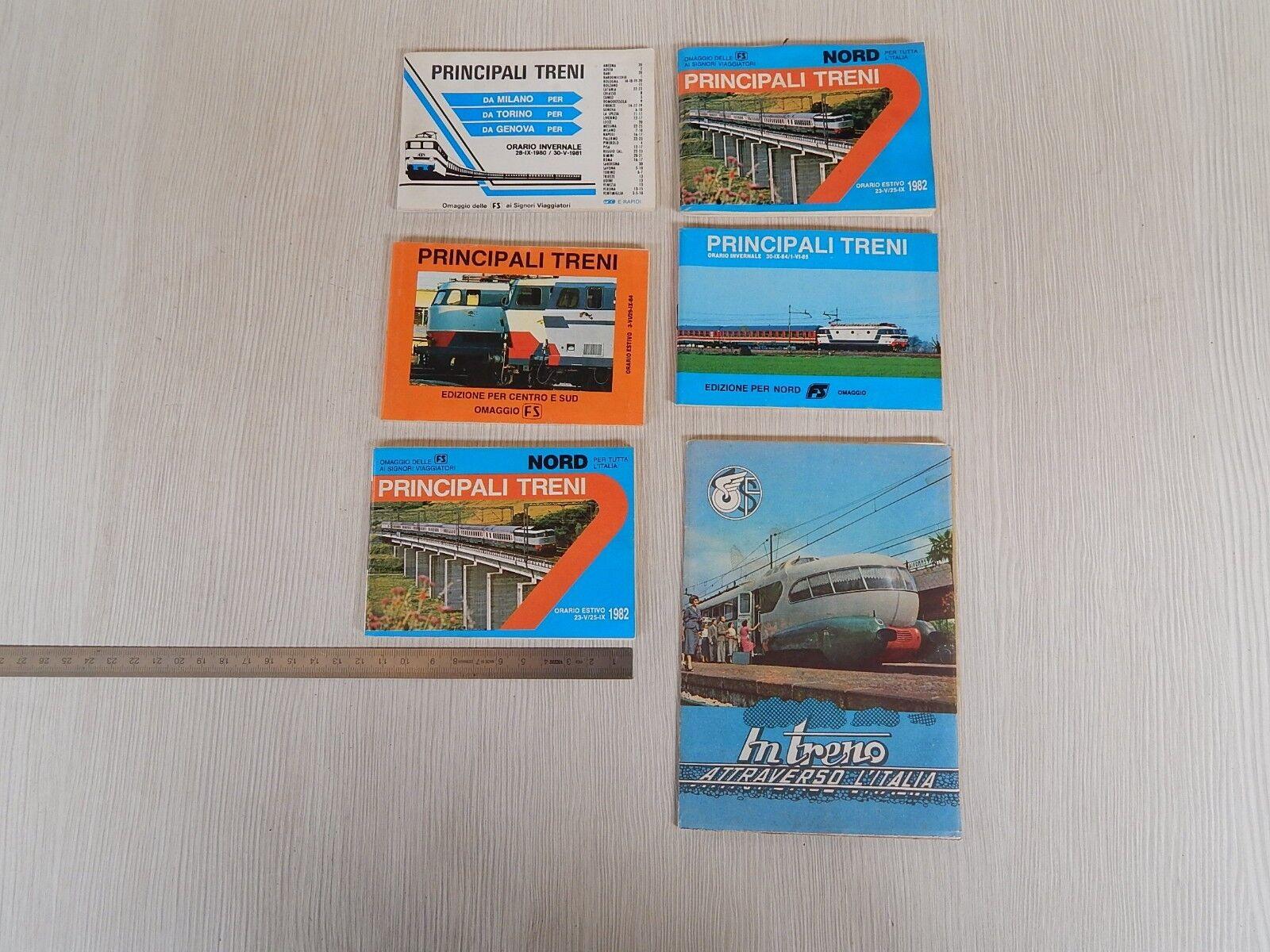 Lotto orari treno fs vintage più cartina con settebello etr.300 treno trenino