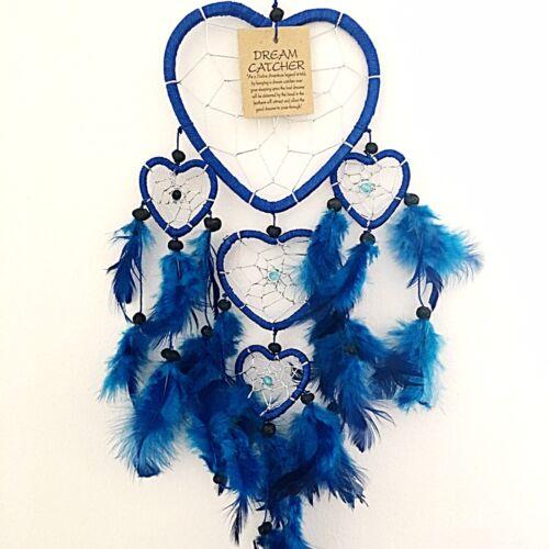 BLUE DREAM CATCHER HEART SHAPED KIDS BEDROOM PARTY BAG STOCKING FILLER GIFT IDEA