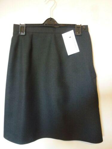 """Schoolwear Bambina Scuola Gonna Vita 24-34/"""" L18-24/"""" NUOVO con etichetta grigio scuro MADE IN UK"""