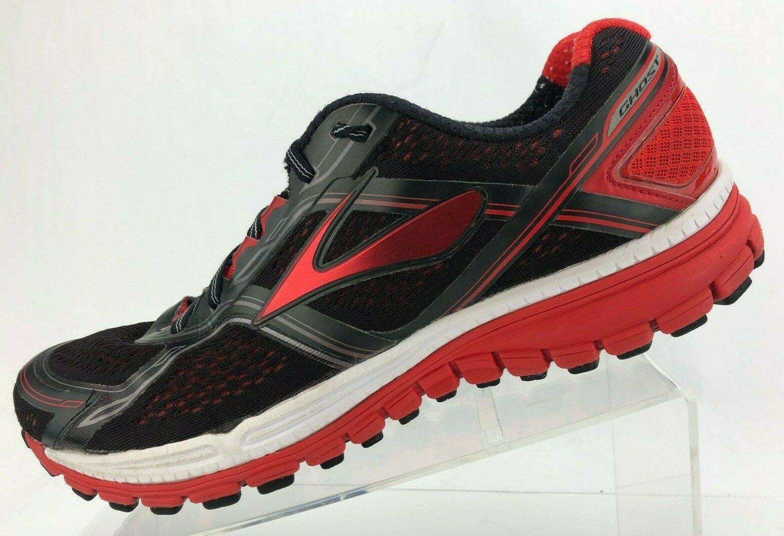 Brooks Ghost 8 Calzado para Correr Negro Rojo Zapatillas de entrenamiento de edición 8Th para hombre 11.5 D