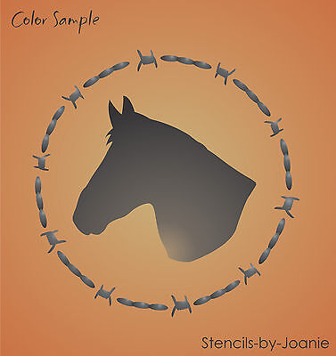 """Stencil 4/"""" Horse Shoe Horse Head Star Country Cabin Lodge Outdoor Rustic Signs"""