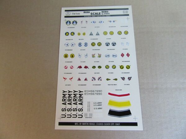 183k Microscale Decals 72-22 Insigne Us Navy 1930-41 Fuselage Bandes 1:72