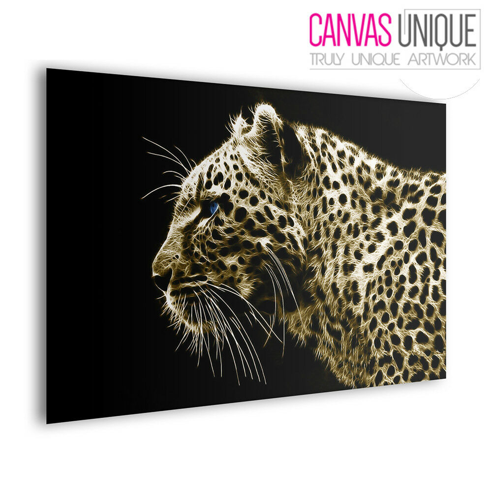 A075 braun Abstract Leopard Profile Animal Multi Frame Canvas Wall Art Print