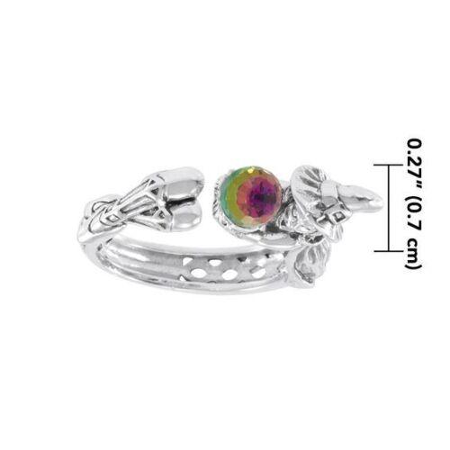 Hexe Kristallkugel .925 Sterlingsilber Ring Von Peter Stone Schmuck