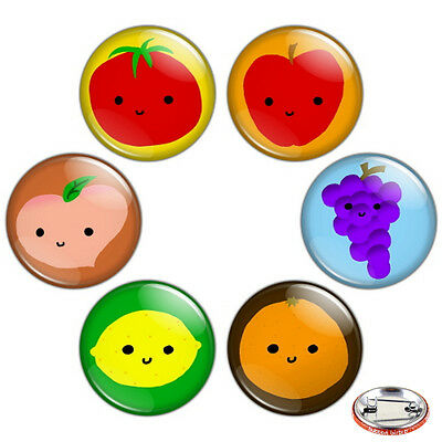 "Delicious Veggies /& Fruits 1.25/"" Pinback Button BADGE SET #2 Novelty Pins 32 mm"