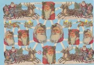 Oblaten, Glanzbilder, Scrap EF7260 mit Glimmer, Nikolaus, Weihnachtsmann<wbr/>, Santa