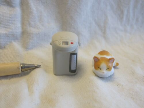 E003 Dollhouse Set Cordless White Electric Thermo Pot w// cat epoch Miniature1:1
