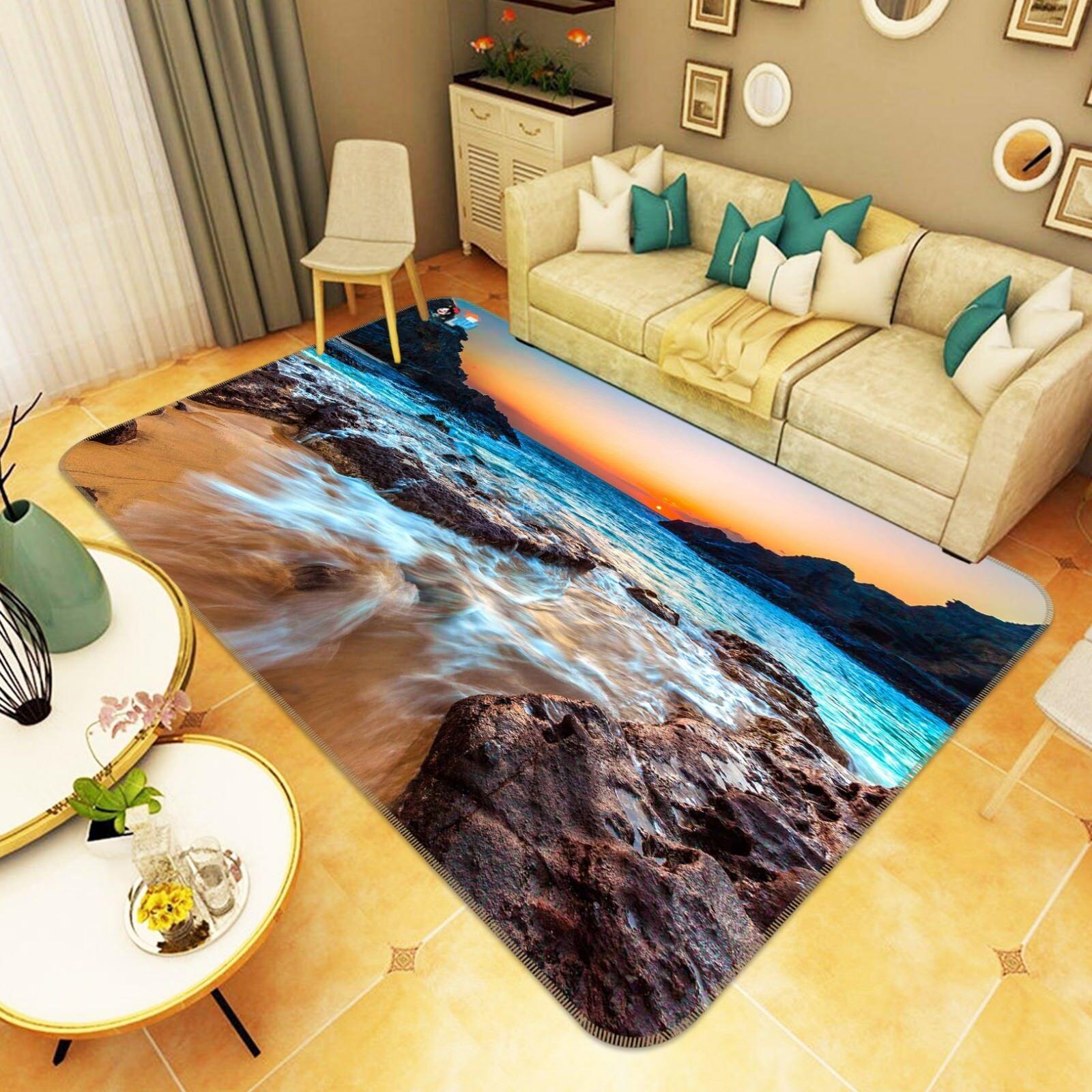 3d vistas del mar 5 antideslizante alfombra de maletero calidad elegante alfombra