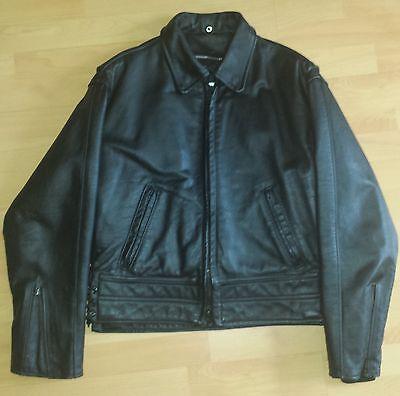 Details zu orig. TAYLOR'S LAPD Police Leather Jacket Motorbike Polizei Motorrad Lederjacke