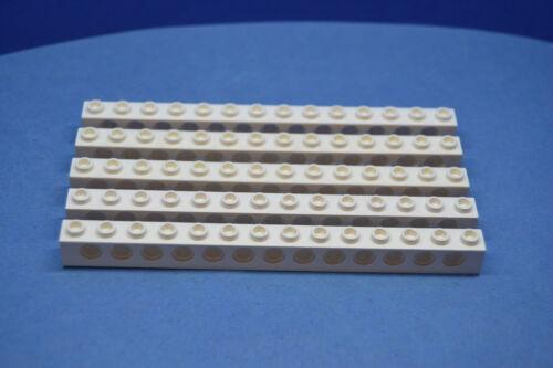 LEGO 5 x Technik Technic Lochstein 1x14 13 Löcher weiß white 32018 4161723