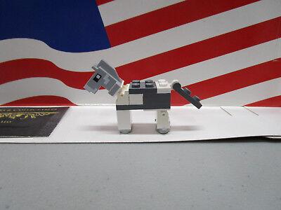 LEGO MINECRAFT HORSE LIGHT BLUISH GRAY HEAD /& WHITE BODY COMPLETE MINIFIGURE