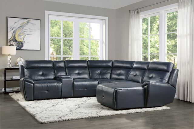 Leather Sectional Sofa Chaise Lounge