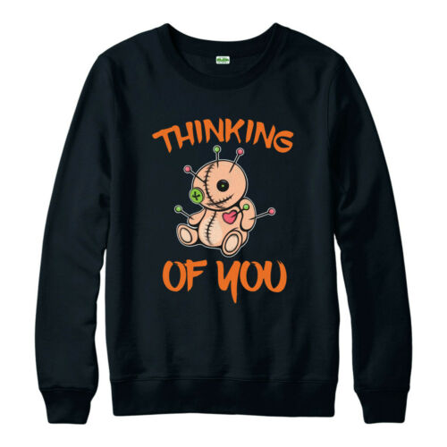 Voodoo Doll Effigy Funny Scary Adults /& Kids Gift Top Thinking OF You Jumper