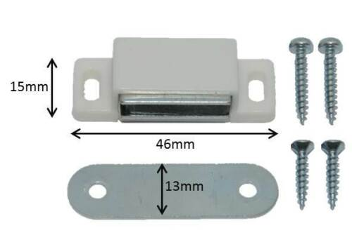 5pc 46mm Magnetic Cabinet Cupboard Door Fasten Latch Snap Clasp Magnet Plate