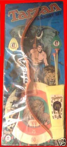 Raro 1975 Hg Juguetes Tarzán Juguete Archery Set Moc