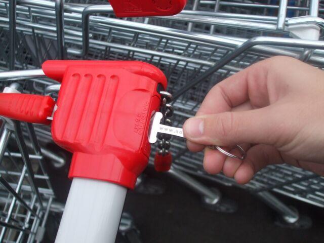 smart invention retractable shopping cart token fits US EU UK coins Noken