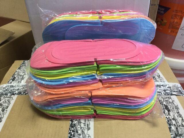 91957578c368 360 Pairs Disposable Spa Pedicure SLIPPER 6 Assorted Color Flip Flop ...