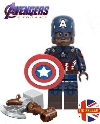 Captain America Broken Shield Marvel Mini Figure Avengers End Game UK Seller