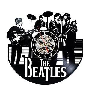 BEATLES_Exclus<wbr/>ive wall clock made of vinyl record_GIFT_DE<wbr/>COR