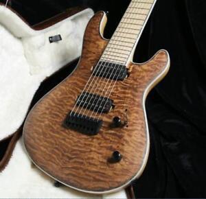 high quality 8 strings electric guitar neck thru body ash body locking tuner ebay. Black Bedroom Furniture Sets. Home Design Ideas