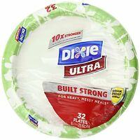 Dixie Ultra Disposable Plates, 8 1/2 Inch, 32 Count (pack Of 4) , New, Free Ship