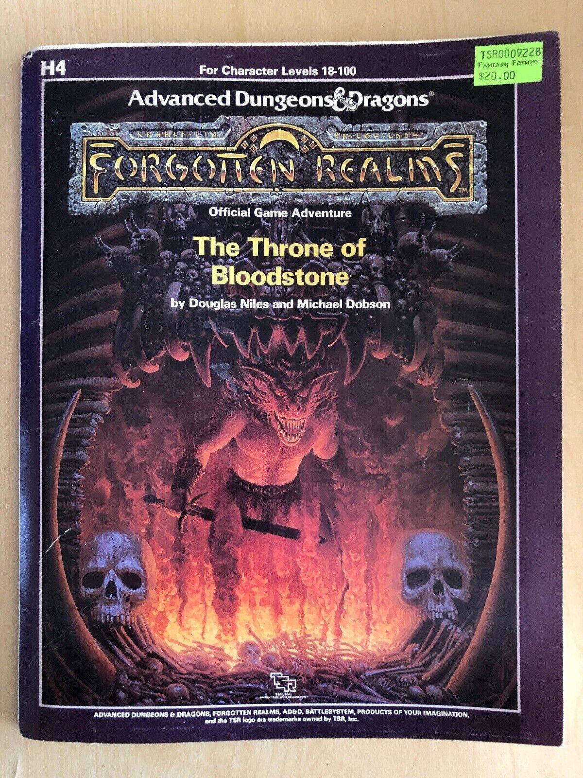 orden ahora disfrutar de gran descuento H4 H4 H4 el trono de Bloodstone mazmorras DRAGONES D&D Forgotten Realms TSR 9228  gran descuento