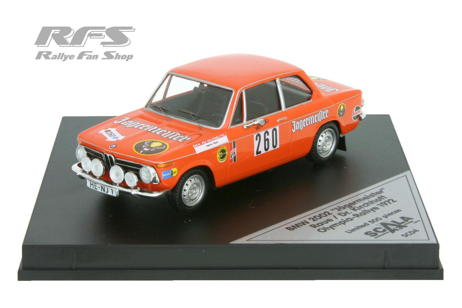 BMW 2002 Ti-rough Dr. Kirchhoff Olympia Rally 1972 - 1 43 Scala SC 04