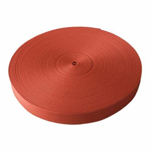 50m Gurtband 20 mm viele Farben Taschenband Trageband Tragegurt Rolladenband