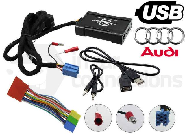 Audi A4 USB adapter interface CTAADUSB003 car AUX SD input MP3 jack 1997 - 2006