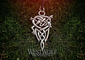 Details about Viking Wolf Knot Pendant ---  Norse/Celtic/Medieval/Knotted/Silver/Jewelry/Skyrim